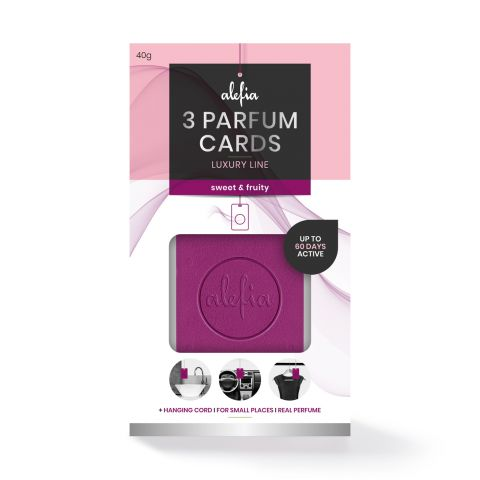 Alefia Luxury Line Parfum Cards Sweet & Fruity 3 pcs