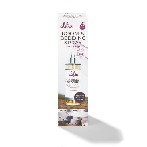 Alefia Room & Bedding Spray 200 ml Mirabeau (paars-roze)